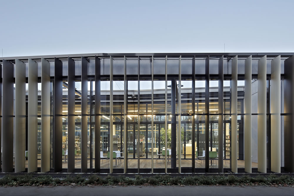 Beige Office Building